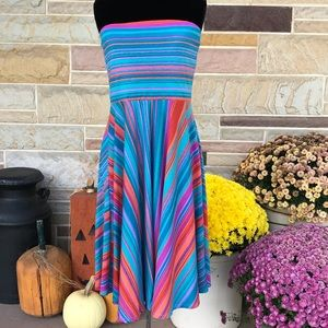 Maurices Strapless Striped Dress